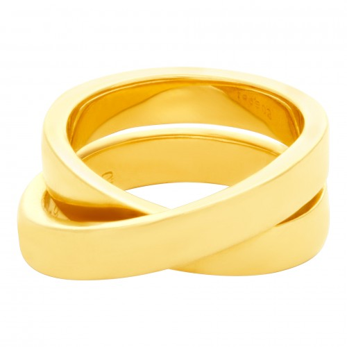 Cartier Crossover ring in 18k