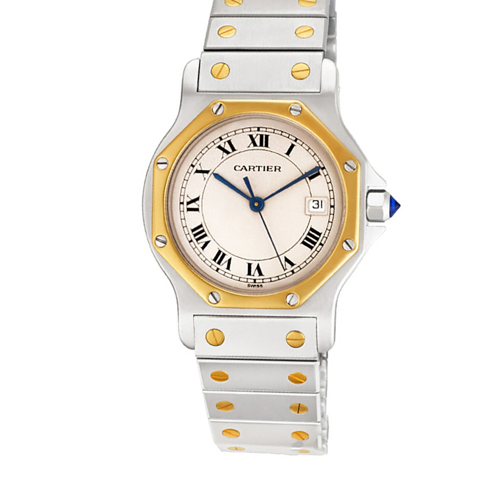 watches white santos bracelet galbee from watch cartier steel jewellers berry dial image s ladies