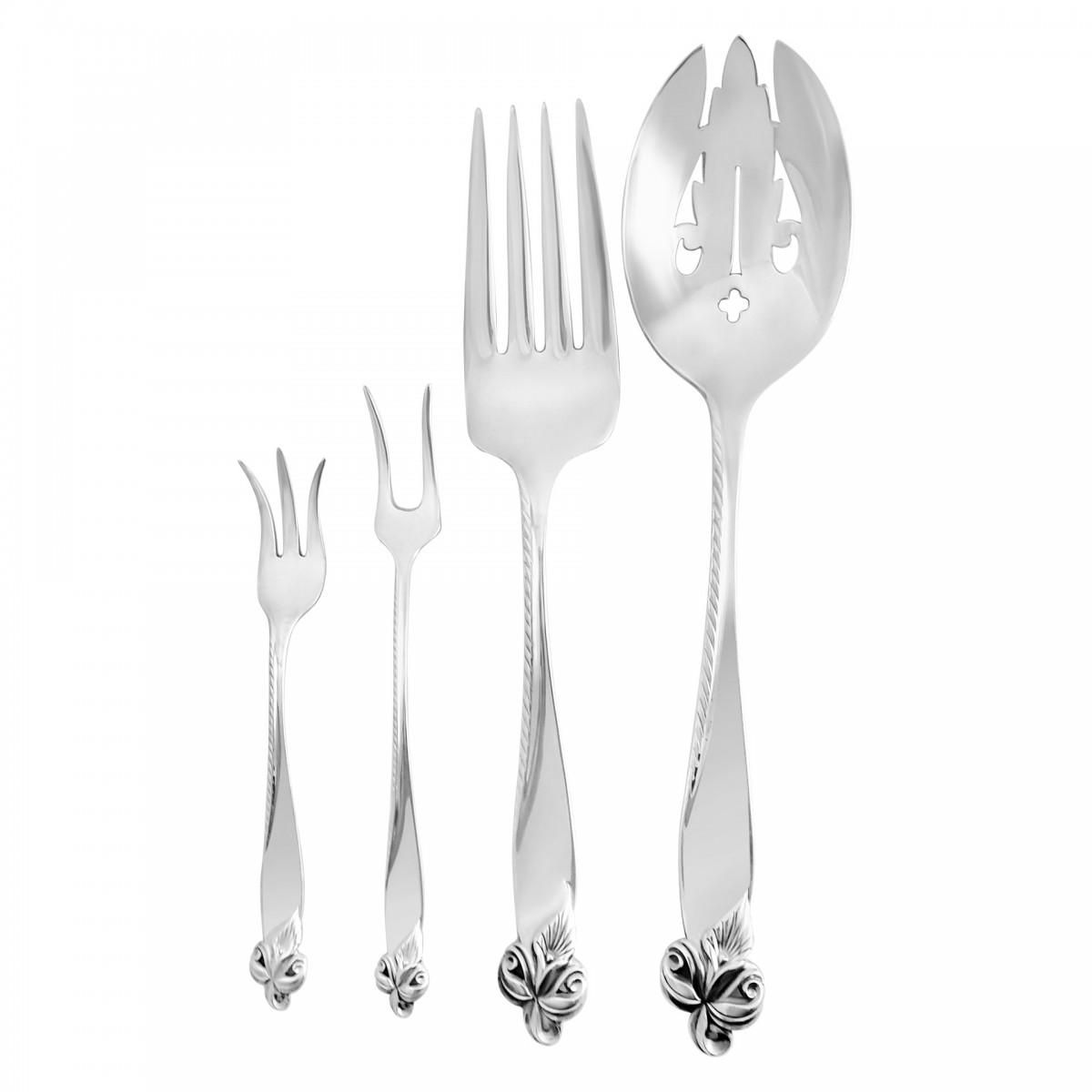 Wallace Orchid Elegance Sterling Silver Teaspoon