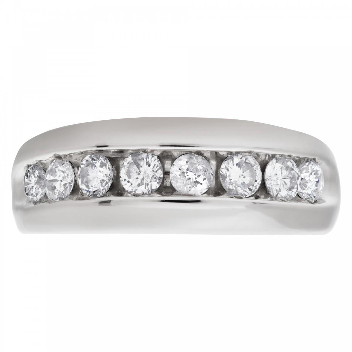 S Diamond 14k White Gold Ring