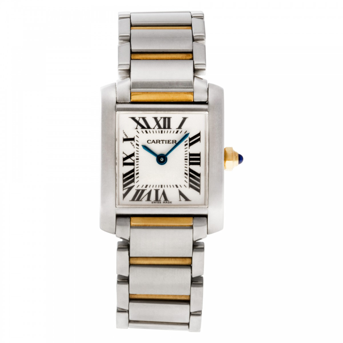 pre owned cartier tank francaise w51007q4 w5 gray sons. Black Bedroom Furniture Sets. Home Design Ideas