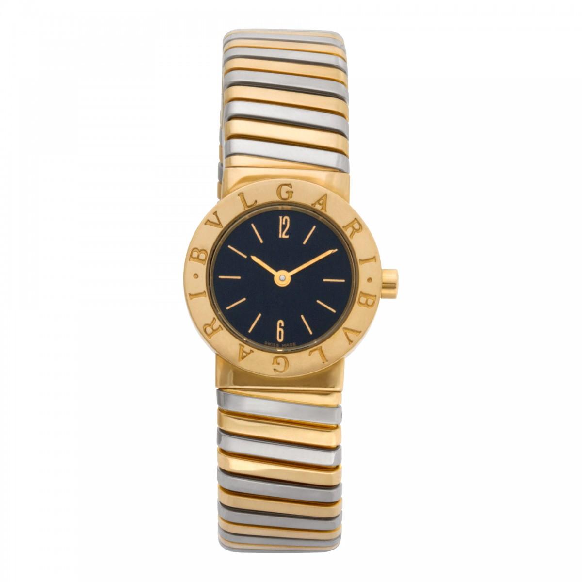 ... Black dial 23mm Quartz watch. Item   W521412. Bvlgari Tubogas BB23T  image 1 · Bvlgari Tubogas BB23T image 2 ... b1a64fd1b05ed