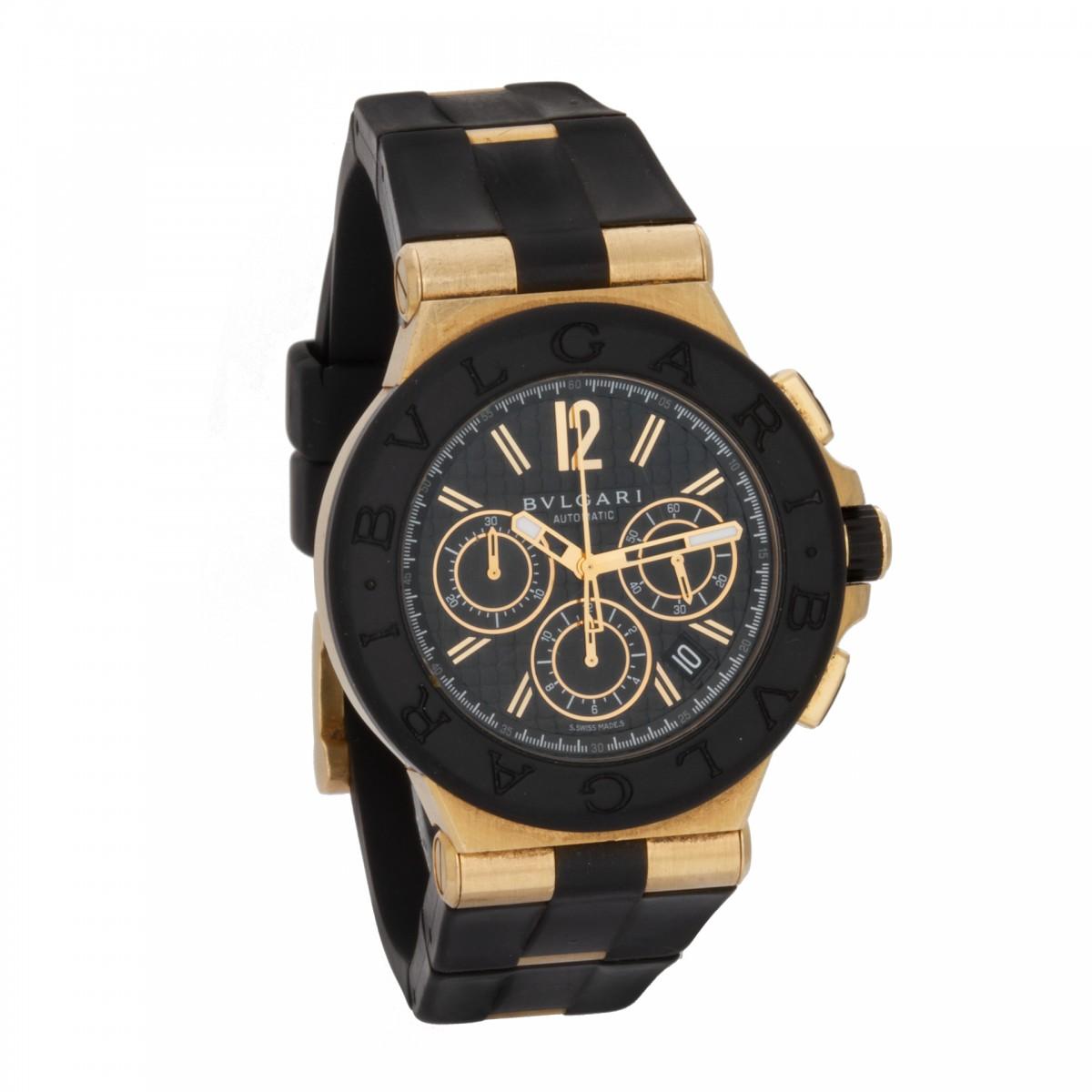 f8cd5eca0bd Used Bvlgari Diagono DG42BGVDCH 18k Black dial 42mm Automatic watch