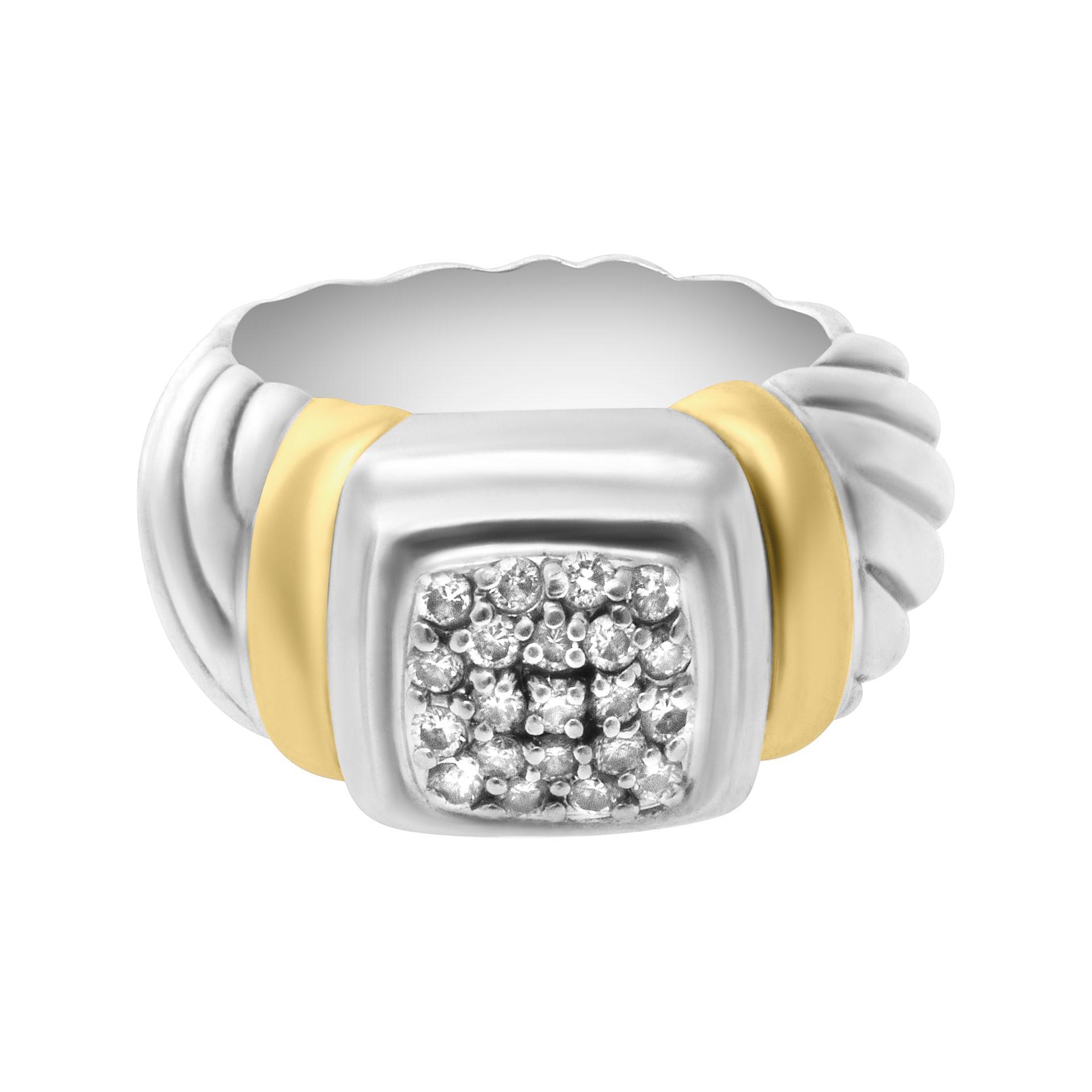 s515469 david yurman ring in 18k sterling silver with
