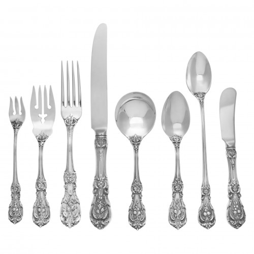 "Reed & Barton ""Francis I"" Sterling Silver Flatware Set. 4 pc service for 12 -"