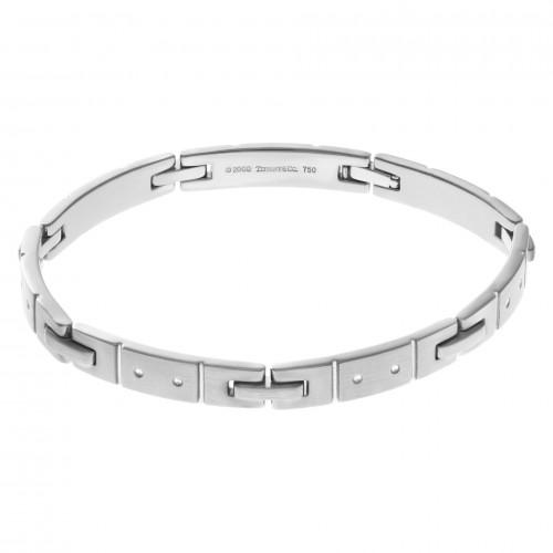 Mens Tiffany & Co Century bracelet in 18k white gold