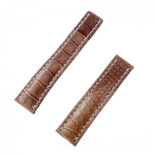 Breitling caramel alligator strap w/ white stitiching (22x20)