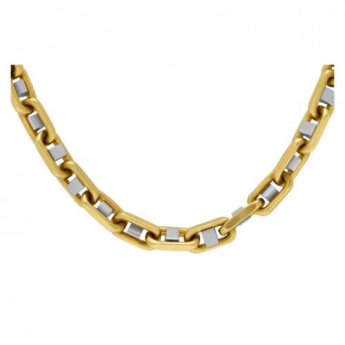 14k white & yellow gold chain