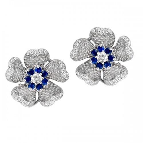 Judith Ripka flower earrings