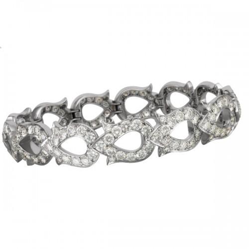 Cartier White Gold Bracelet in 18k white gold with diamonds 849952