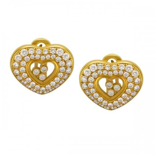 """Chopard """"Happy Diamond Hearts"""" earrings"""