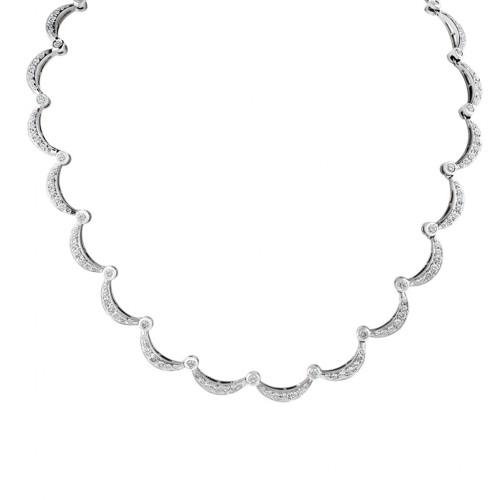 Diamond necklace in 14k white gold