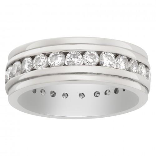 Diamond eternity wedding band in 14k white gold