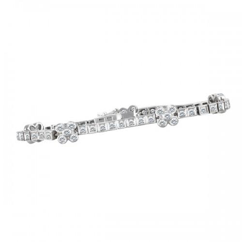 Diamond bracelet in 18k white gold with appr 1.40 carats in diamonds