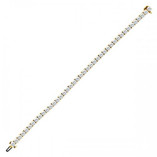 Diamond tennis bracelet in 18k w app 7.38 cts in diamonds