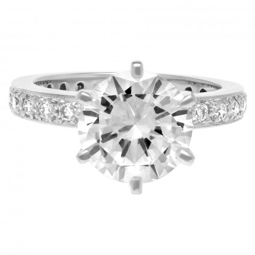 Gia Certified Round Diamond 2.69 Cts (E Color Vvs2 Clarity)