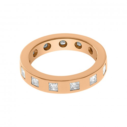 Eternity band in 18k rose gold with 12 diamonds. 0.80 carats. Size 5