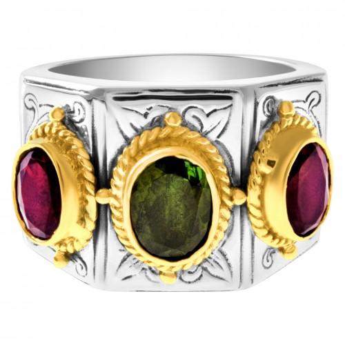 Konstantino ring in 18k & sterling silver