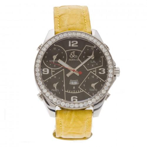 Jacob & Co. Five Time Zones JC-2 3.25 carat bezel