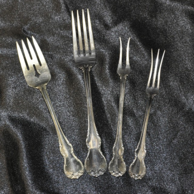 """Towle """"French Provincial"""" Sterling Slver Flatware Set. 12 Pc service for 8 - 106 total pcs image 5"""
