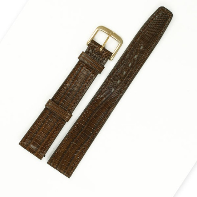 omega Brown lizard strap (16x14) image 1