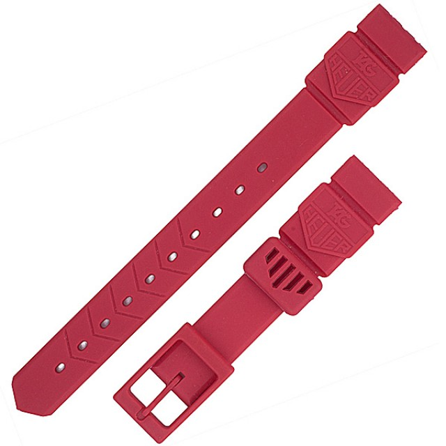 Ladies Tag Heuer fusia rubber strap (15x12) image 1