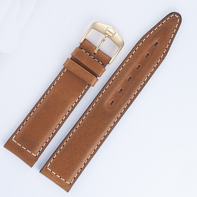 Tag Heuer brown leather strap (19x18) image 1