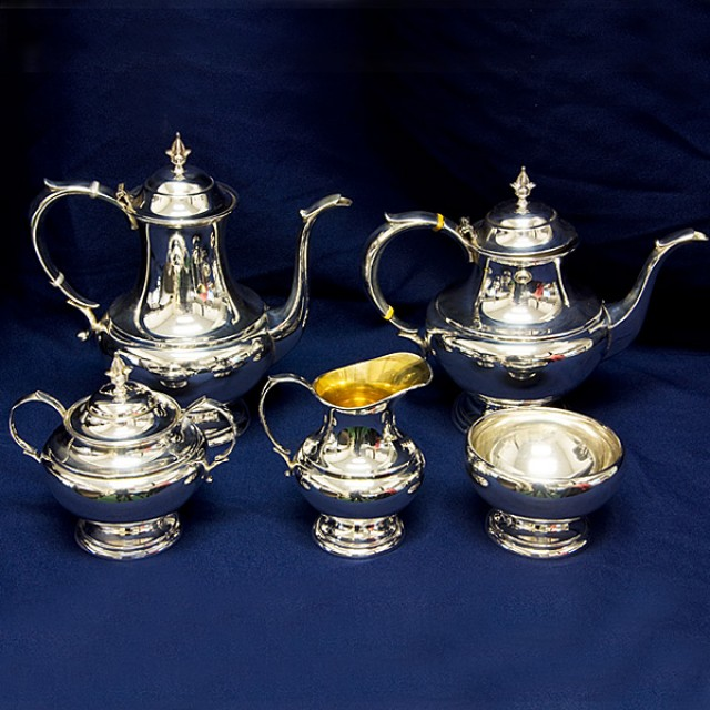 Reed & Barton The Pilgrim Sterling 5 piece Tea Set total weight 65.74 oz troy image 1