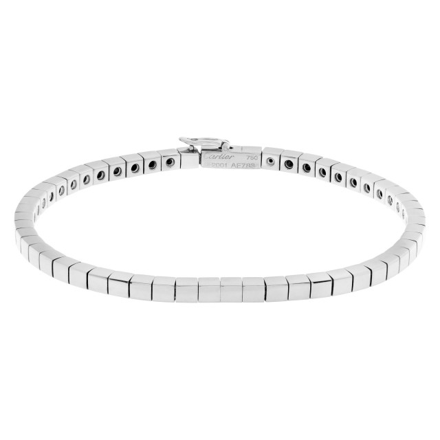 Cartier Lanieres bracelet in 18k white gold. 6.5 inches long. image 1