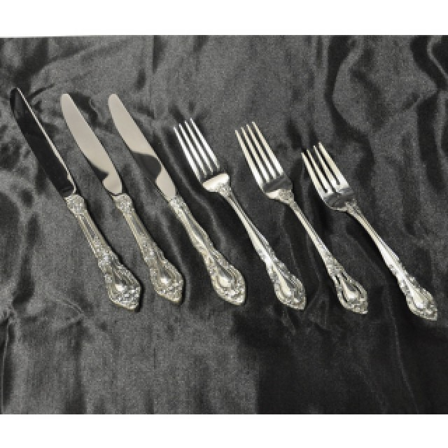"Lunt ""Eloquence"" Sterling Silver Flatware Set. 5 x 8  + xtra-  48 pcs Total. image 1"