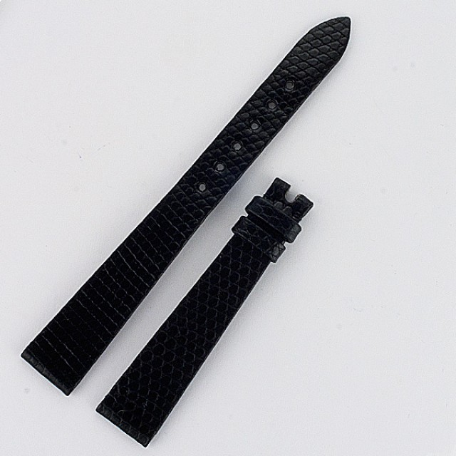 Corum black lizard strap (14x10) image 1