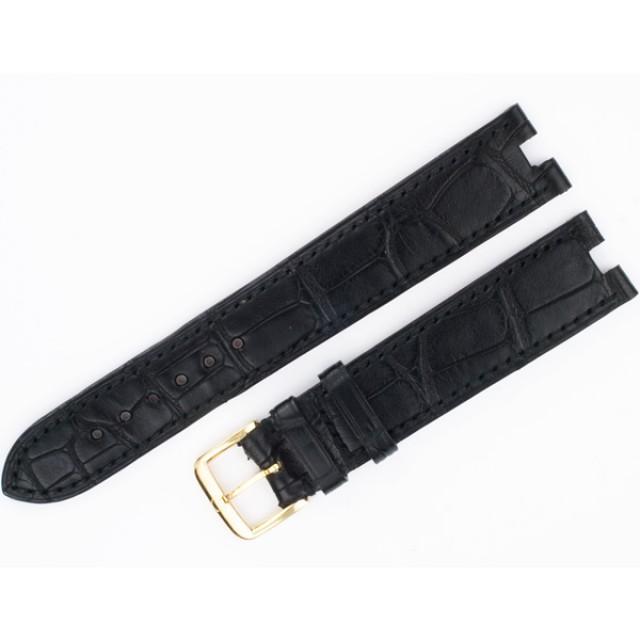 Omega black alligator strap with buckle (18x14) image 1