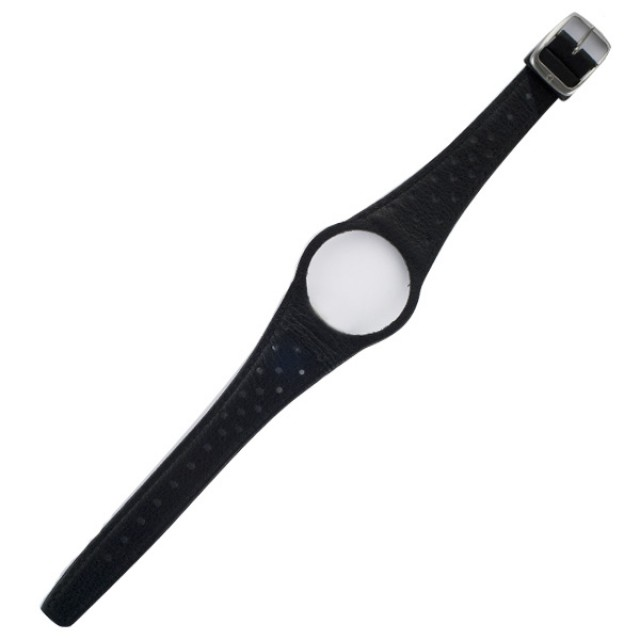Omega Dynamic One-piece black calfskin strap with 14 mm buckle image 1