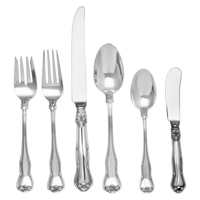 "Tiffany & Co ""Provence"" Sterling Sliver Flatware Set. 6 pc service for 8 -  60 total pcs. image 1"