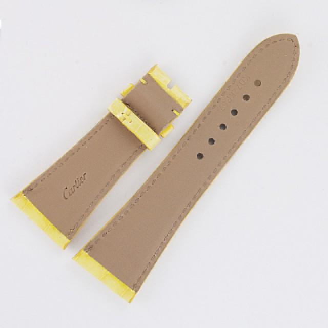 "Cartier yellow alligator strap for lds Divan (24x18) 4 1/8"" & 2.5"" long image 2"