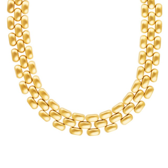 Panthere Style Choker Neckace in 14k yellow gold image 1