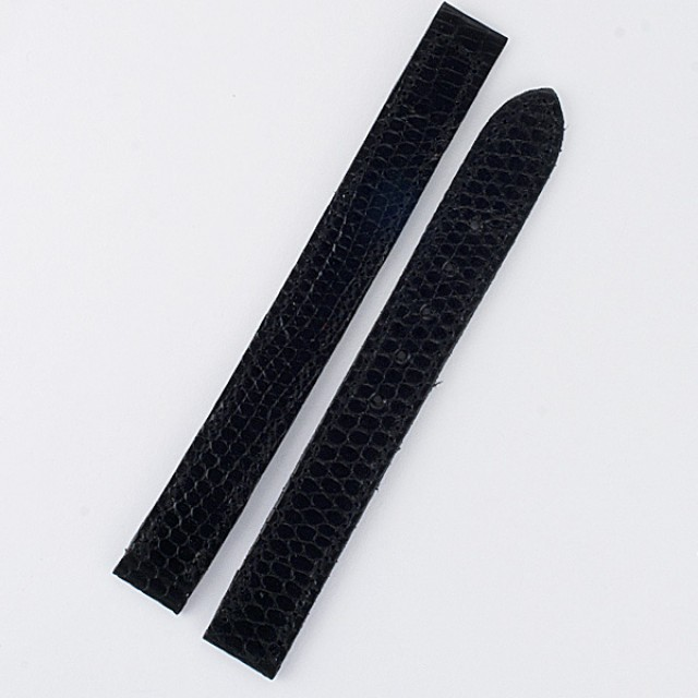 Cartier shiny black lizard strap (12x11) image 1