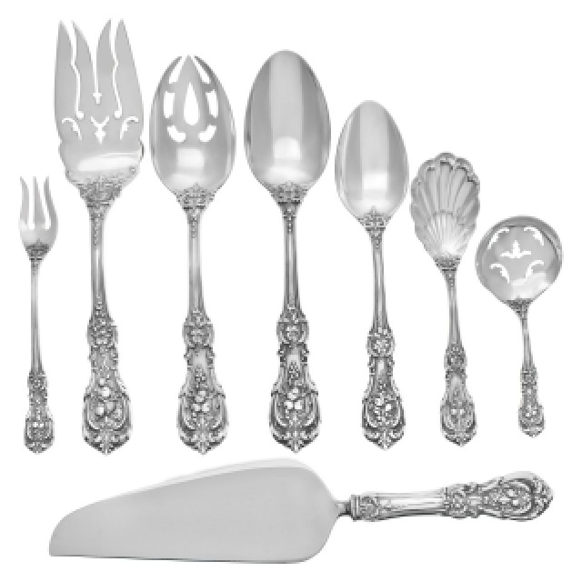 """Reed & Barton """"Francis I"""" Sterling Silver Flatware Set. 4 pc service for 12 - image 3"""