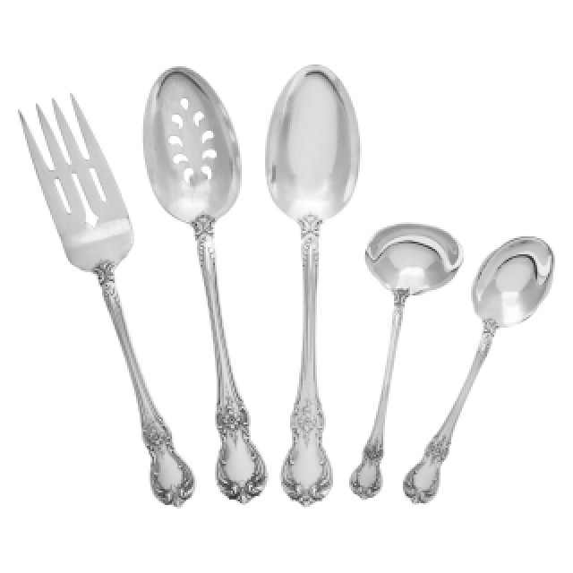 """Towle """"Old Master"""" Sterling Silver Flatware Set. 12 pc service for 5 - 59 total pcs. image 4"""