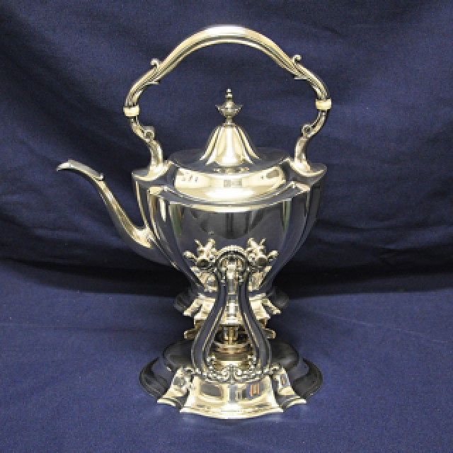 Reed & Barton sterling silver 6 piece coffee & tea set with kettle and serving tray. Over 194 oz t image 5