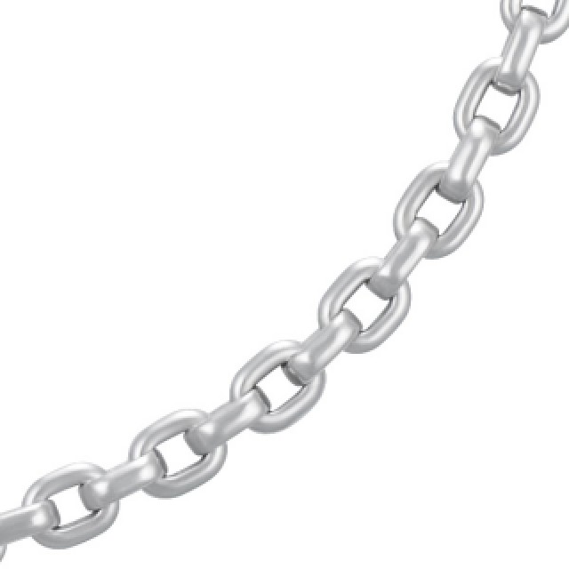Original Cartier 18k white gold chain necklace. 16 inch length. image 2