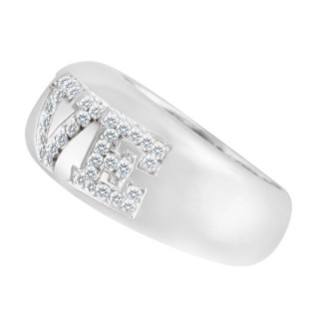 """""""Love"""" Ring In 18k White Gold image 2"""