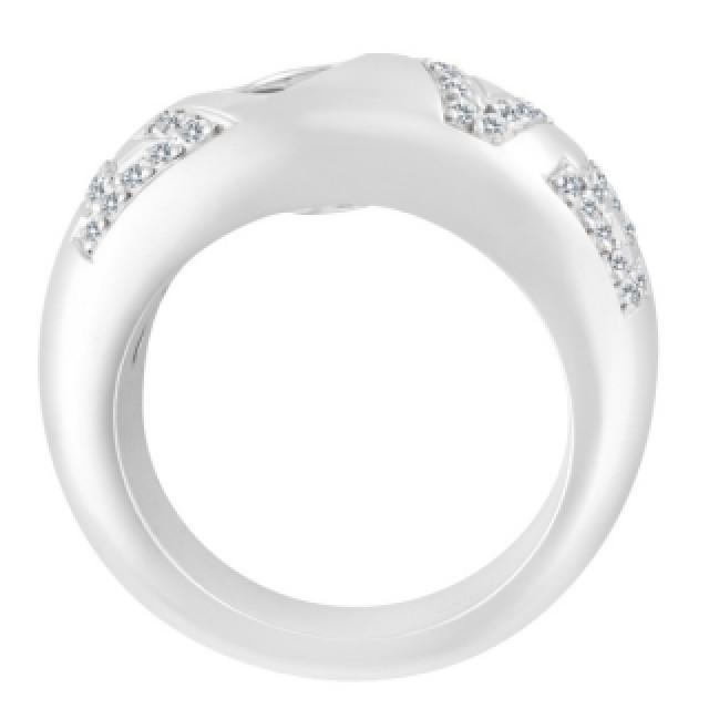 """""""Love"""" Ring In 18k White Gold image 3"""