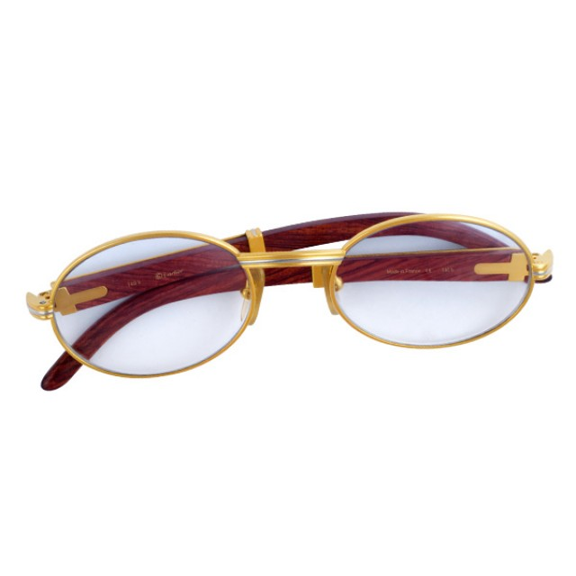 f83e59a51b Cartier Glasses with wood temples image 1 ...