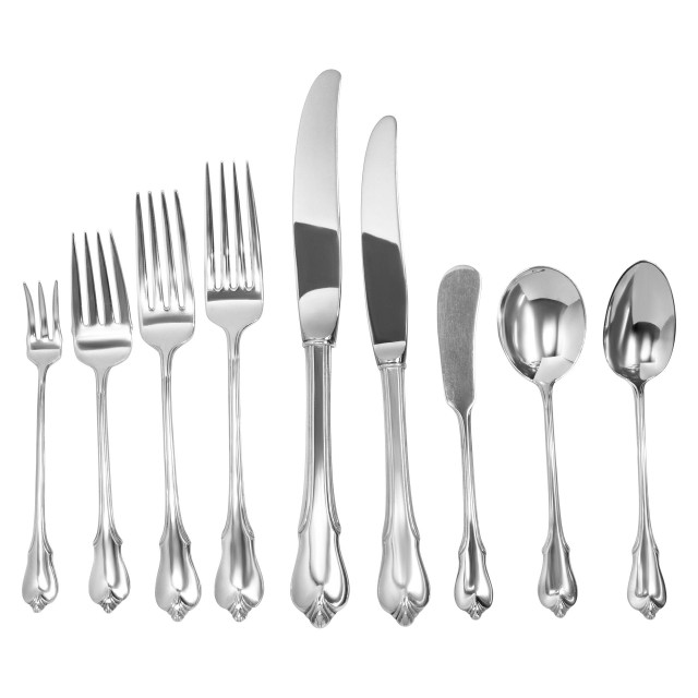 """GRAND COLONIAL"" sterling silver flatware set patented in 1942 by WALLACE- 9 Place Setting for 12 (Dinner & Lunch) + 7 Serving Pieces. Over 4200 grams sterling silver. image 1"