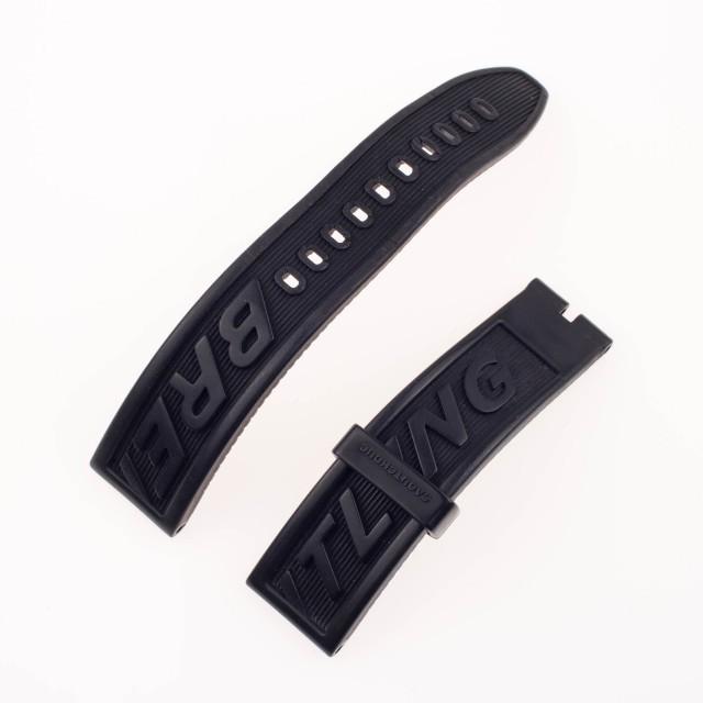 Breitling black rubber strap (22mm x 20mm) image 1