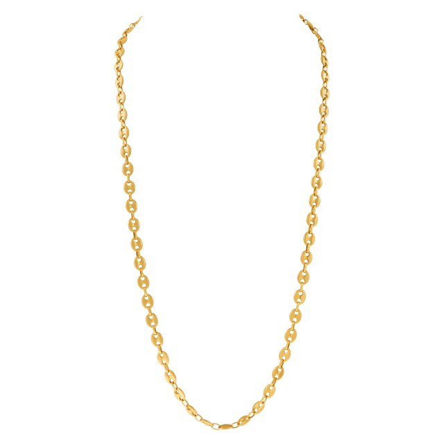 Radiant 18k yellow gold chain image 1