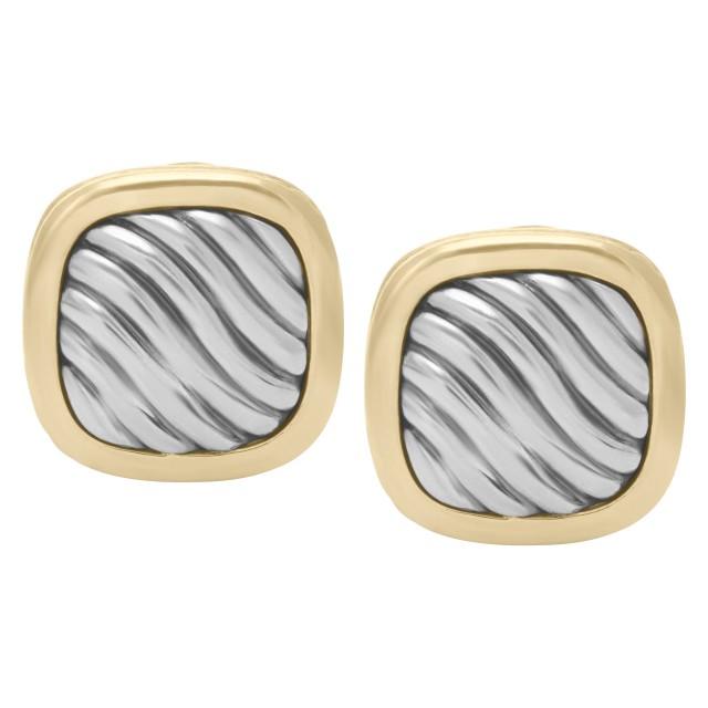 David Yurman earrings in 18k & sterling silver image 1