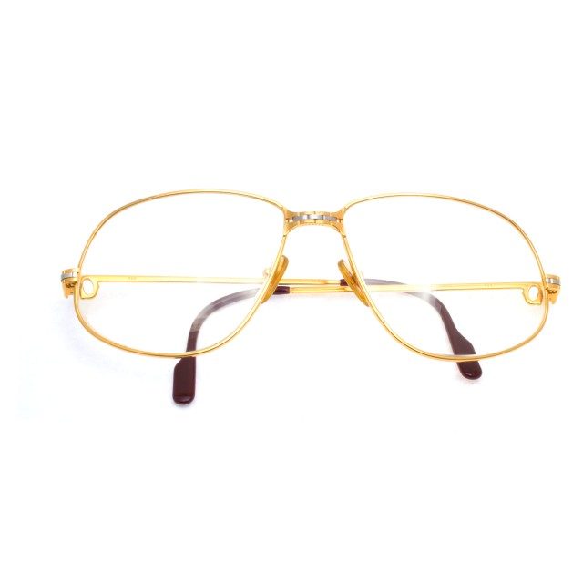 "Signed ""1988 Cartier"" Panthere glasses in gold plated. image 1"