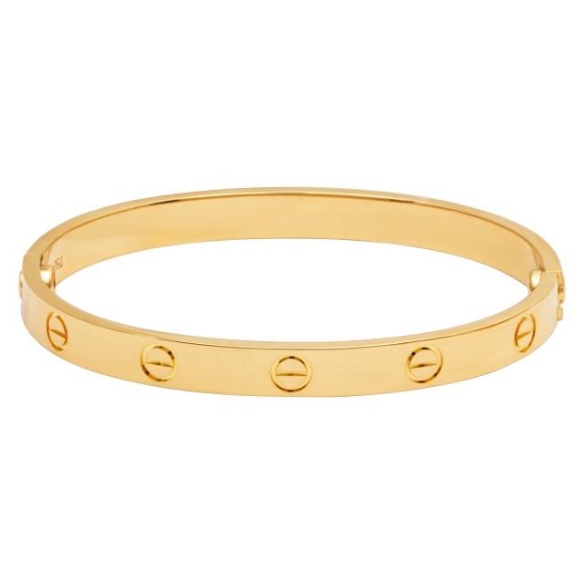 Cartier love bracelet in 18k yellow gold. Size 17. image 1